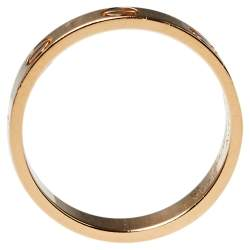 Cartier Love 18K Rose Gold Wedding Band Ring Size 50