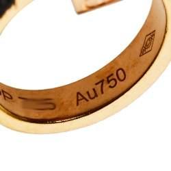 Cartier Love 2 Hoops 18K Rose Gold Necklace