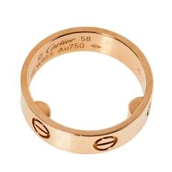 Cartier Love 18K Rose Gold Ring Size 58