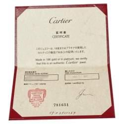 Cartier Diamants Légers Heart Motif Diamond 18K White Gold Ring Size 48