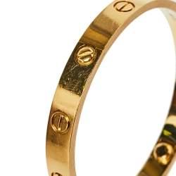 Cartier Love 18K Yellow Gold Bracelet 17