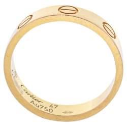 Cartier Love 18K Yellow Gold Narrow Wedding Band Ring Size 47