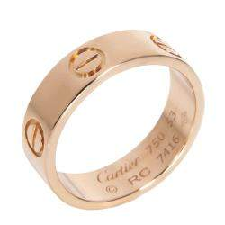 Cartier 18K Rose Gold Love Ring Size 53