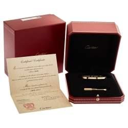 Cartier Love 18K Yellow Gold Bracelet SM 17