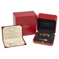 Cartier Love 18K Yellow Gold Bracelet 19