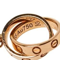 Cartier Love Interlocking 2 Hoops 18K Rose Gold Bracelet