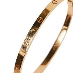 Cartier Love 18K Rose Gold Bracelet SM 16