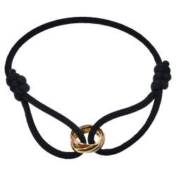 Cartier Trinity 18K Three Tone Gold Adjustable Cord Bracelet