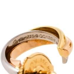 Cartier Trinity 18K Three Tone Gold Hoop Earrings