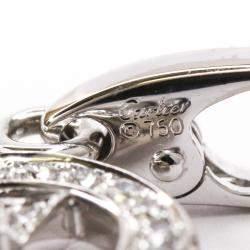 Cartier 18K White Gold Diamond Double C Heart Charm Pendant