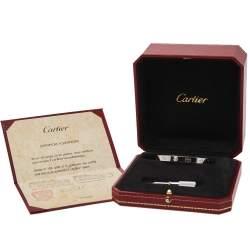 Cartier Love 18K White Gold Bracelet Size 16