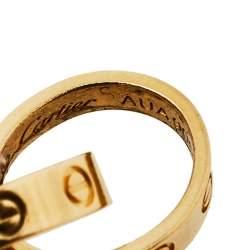 Cartier Love Interlocking 2 Hoops 18K Yellow Gold Bracelet