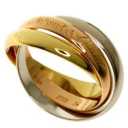 Cartier 18K Yellow Gold, Rose gold, White Gold Les muste de Cartier Trinity Ring Size 55