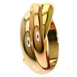 Cartier 18K Yellow Gold, Rose Gold, White Gold Trinity Ring Size 49