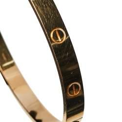 Cartier Love 18K Rose Gold Bracelet 19