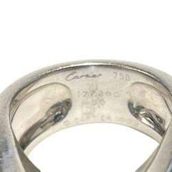 Cartier Aquamarine 18K White Gold Ring Size EU 50