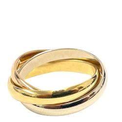 Cartier Le Must De Cartier Trinity 18K Yellow White Rose Gold Ring Size EU 54