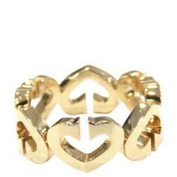 Cartier Heart 18K Yellow Gold Ring Size EU 49
