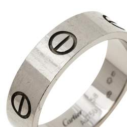 Cartier Love 18K White Gold Band Ring Size 58