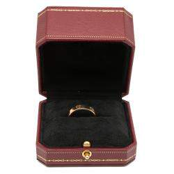 Cartier Love Rose Gold Band Ring Size 59