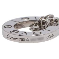 Cartier Love 18K White Gold Diamond Double Chain Bracelet