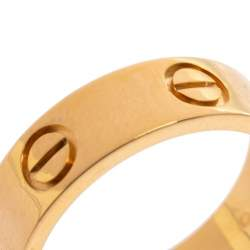 Cartier Love 18K Yellow Gold Band Ring Size 53