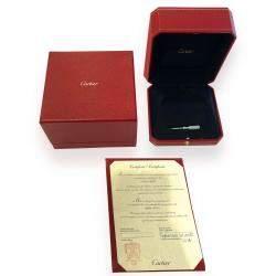 Cartier Love 18K White Gold Diamond Bracelet 18