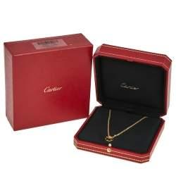 Cartier Love Diamonds 18K Yellow Gold Pendant Necklace