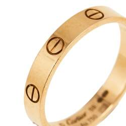 Cartier Love 18K Rose Gold Narrow Wedding Band 59