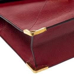 Cartier Red Leather Envelope Shoulder Bag