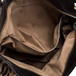 Cartier Beige/Dark Brown Leopard Print Calfhair/Lizard and Leather Marcello De Cartier Bag