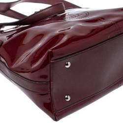 Cartier Red Patent Leather Marcello de Cartier Satchel