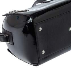Cartier Black Patent Leather Marcello de Cartier Bowler Bag