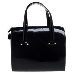 Cartier Black Leather Happy Birthday Satchel