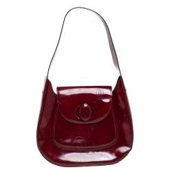 Cartier Burgundy Patent Leather Happy Birthday Hobo
