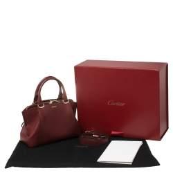 Cartier Dark Red Leather Mini C de Cartier Satchel