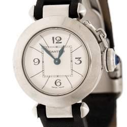 Cartier Silver Stainless Steel Pasha de Cartier 2973 Women's Wristwatch 27 mm