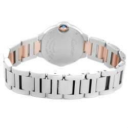 Cartier Pink MOP 18K Rose Gold And Stainless Steel Ballon Bleu W6920034 Women's Wristwatch 28 MM