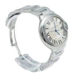 Cartier Silver Dial Ballon Bleu de Cartier Stainless Steel Automatic Women's Wristwatch 33MM