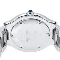 Cartier Silver Stainless Steel Must De Cartier 21 Women's Wristwatch 31 mm