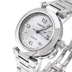 Cartier White Stainless Steel Pasha de Cartier 2324 Women's Wristwatch 35 mm