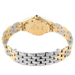 Cartier Silver 18K Yellow Gold And Stainless Steel Cougar 117000 Women's Wristwatch 26 MM