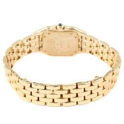 Cartier Silver 18K Yellow Gold Panthere W25022B9 Women's Wristwatch 22 x 22 MM