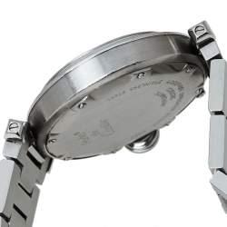 Cartier Black Stainless Steel Pasha de Cartier 2324 Automatic Women's Wristwatch 35MM