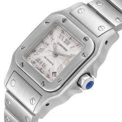 Cartier Silver Stainless Steel Santos Galbee Automatic W20044D6 Women's Wristwatch 24 x 24 MM