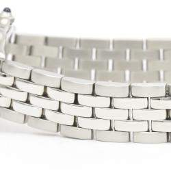 Cartier Silver Stainless Steel Panthere De Cartier Quartz W25033P5 Women's Wristwatch 22 MM