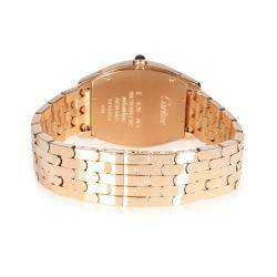 Cartier Silver 18K Rose Gold Tortue W1556366 Women's Wristwatch 32 MM