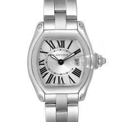 Cartier Silver Stainless Steel Roadster W62016V3 Women's Wristwatch 36 x 30 MM