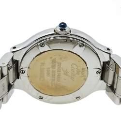 ساعة يد نسائية كارتييه موست دو كارتييه 21 1340 ستانلس ستيل فضية 28 مم