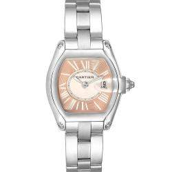 Cartier Coral Stainless Steel Roadster Limited Edition W62054V3 Women's Wristwatch 36 x 30 MM